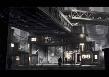 Slums Under Bridge by AlexJJessup