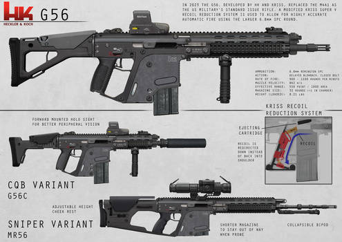 HK G56 by AlexJJessup