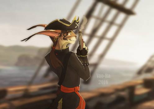 Pirate Cat (+adoptable) by Vao-Ra