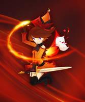 Winged Fire Mage by Winyumi
