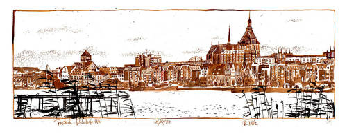 Rostock from the north by RoodyN