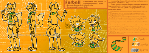 Furball Official Reference Sheet 2018 by SalaAlternate