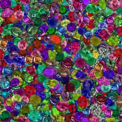 Gems both rotationally and randomly distributed. by lylejk