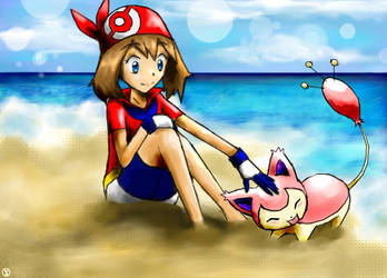 May and Skitty! by worldofyarn