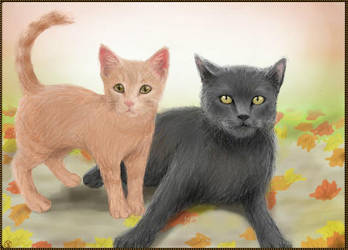 Neighbor's Kitties by worldofyarn