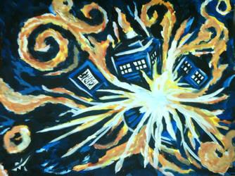 Van Gogh's TARDIS by luckyprofundity
