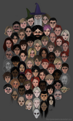 Harry Potter Faces by greendesire