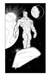 Silver Surfer (inked) by darnof