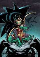 Damian son of Batman color by darnof