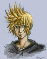 Roxas Sketch by Aneyana