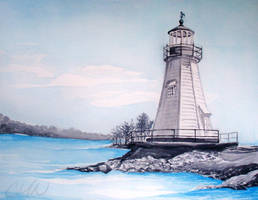 Watercolor Lighthouse by Aneyana