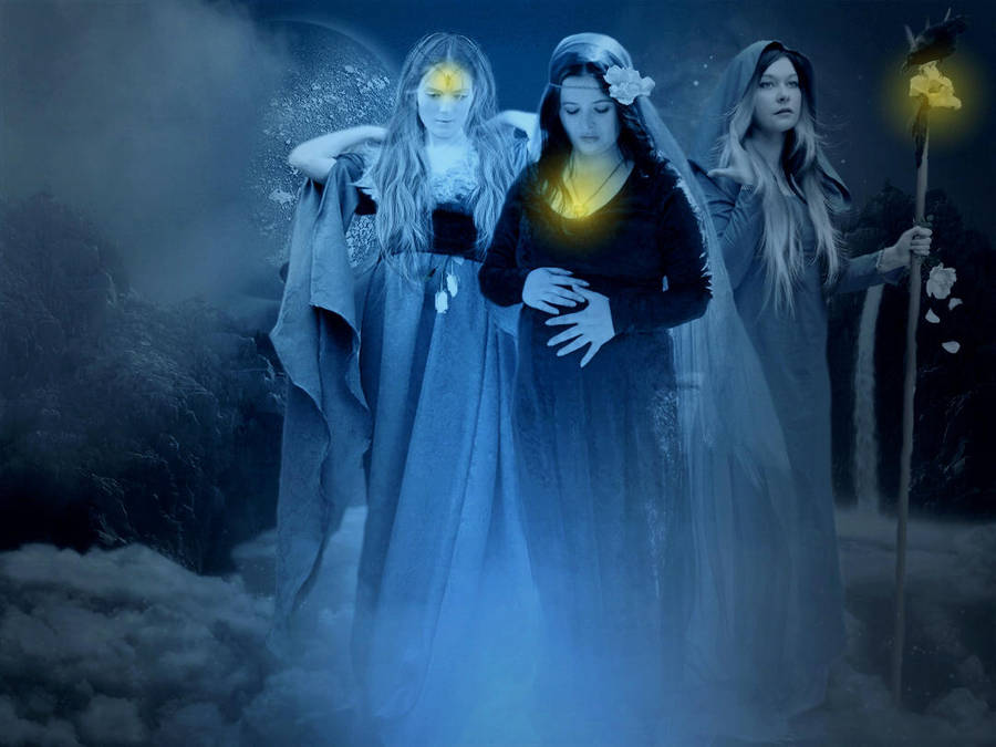 Tribute to the Triple Goddess by woodland-lullaby