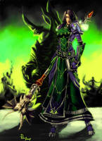 Comission: Iria2k's Warlock by pulyx