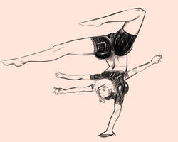 Noralee's One Hand Stand by dacoomes