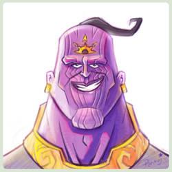 Thanos_Fanart(illustrated_by_Pankajpandey4d) by PankajPandey4D