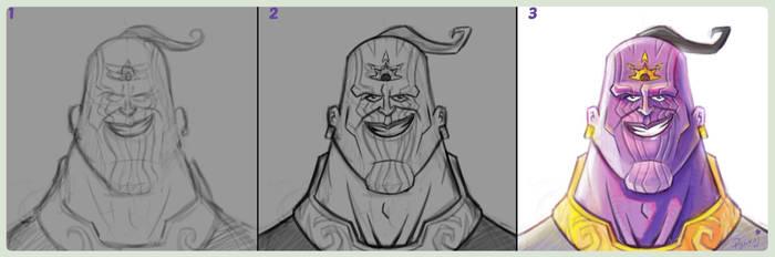 Thanos_fanart_Process(illustrated_by_Pankajpandey) by PankajPandey4D