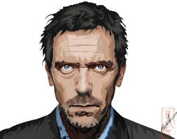 Dr. House - Illustrator Vector by juliocfg