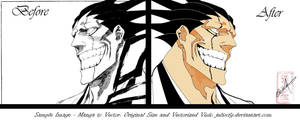 Bleach Kenpachi Zaraki Vector by juliocfg