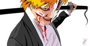 Cosplayer Ichigo Vectorized by juliocfg