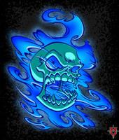 Cobalt Skull by Masebreaker by BackhandBLAM