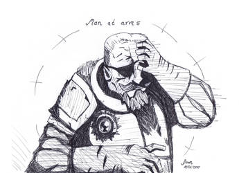 Doodles of Doom - Man at Arms - Darkest Dungeon by CaeusDoom