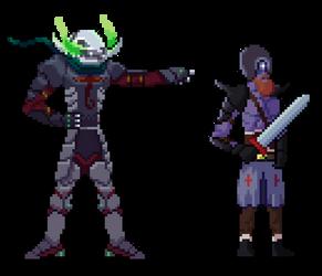 Warriors of the Undead - Pixel Art by CaeusDoom