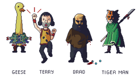LISA: The Painful - Party Members by CaeusDoom