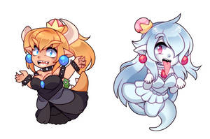 Bowsette and Booette by kissurai