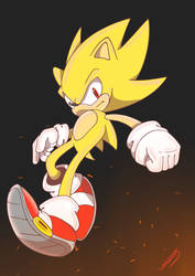 Hyper Soinc Recolor Super Sonic by warcones