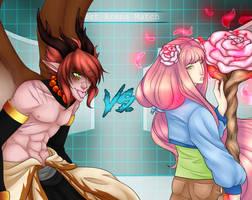 Kaz VS Sakura by TwinTigerPaw
