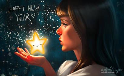 Happy new year 2014 by avisnocturna