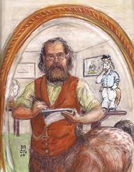Mirror Self-Portrait by LuciusAppaloosius