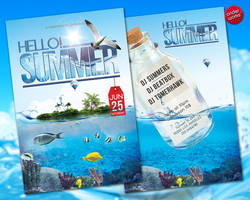Hello Summer - Flyer template by isoarts2