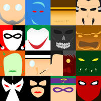 Batman Villains - Minimalism by tdj1337