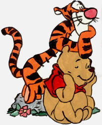 Winnie The Pooh And Tigger by RougeCat82