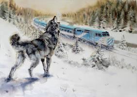 train Schefferville by claratessier