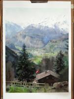 Gryon, Switzerland by claratessier