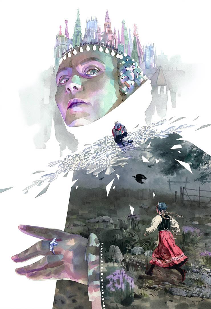 La Reine des neiges by claratessier