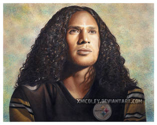 Troy Polamalu in Colored Pencil by xnicoley