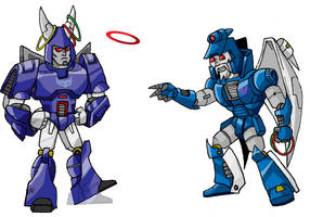 Cyclonus at the Ring Toss by memorypalace