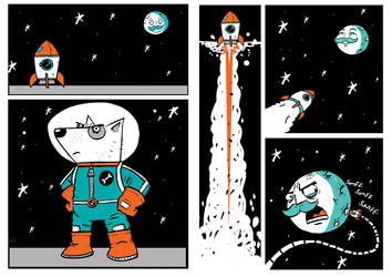 SpaceDog's Mission by memorypalace