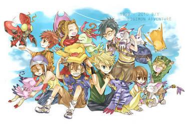 Digimon Adventure Cast by Pokemonaddict88192