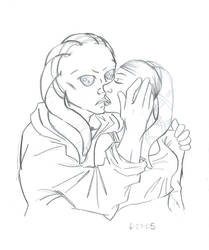 Kit+Aayla: Kiss Me by SuperherogirlCat
