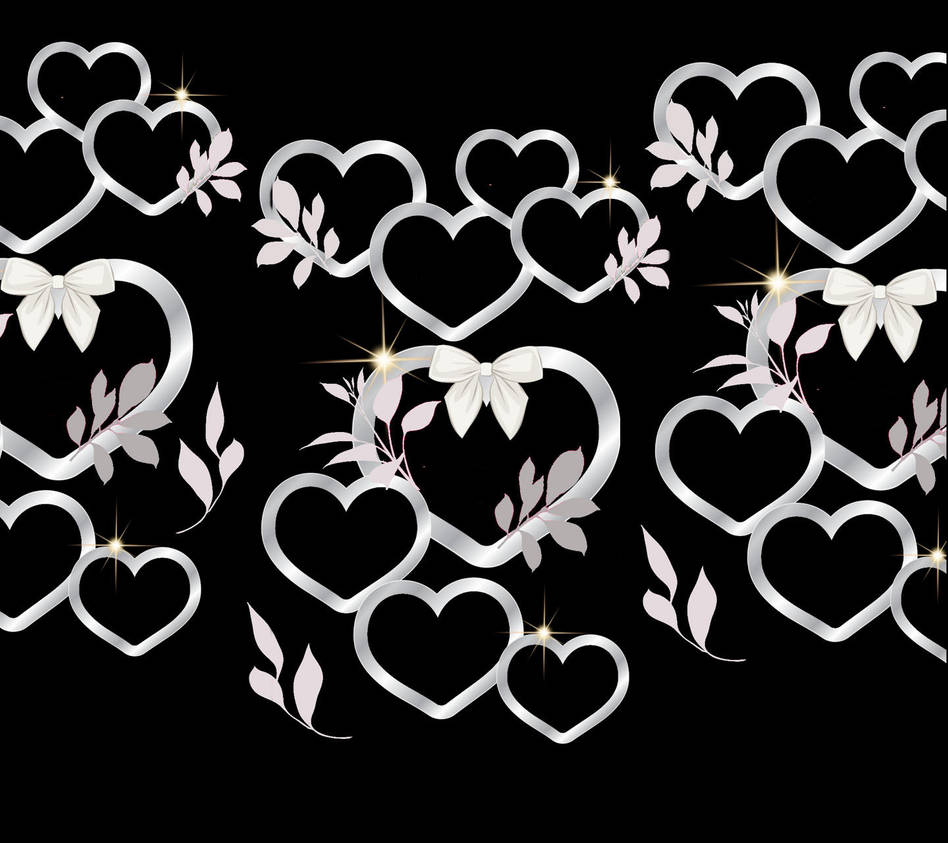 Silver Hearts 6 Wallpaper 11404430 By Beckis52 On Deviantart