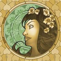 Art Nouveau Portrait 1 by ArtbroJohn