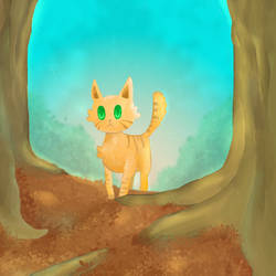 Forest Cat by cutecatandrabbit
