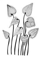 Leaves Inked Doodle by WelshPixie