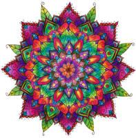Finished Mandala Colouring by WelshPixie