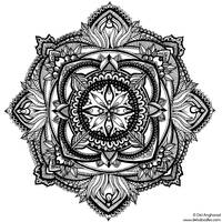 Hand-Drawn Mandala 2 by WelshPixie