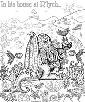 Cthulhu Colouring Page by WelshPixie